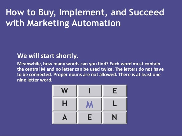 How to Buy, Implement, and Succeed with Marketing Automation