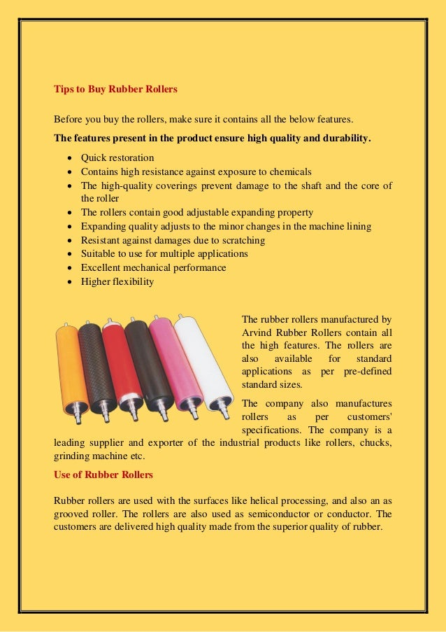 How to buy industrial rubber rollers