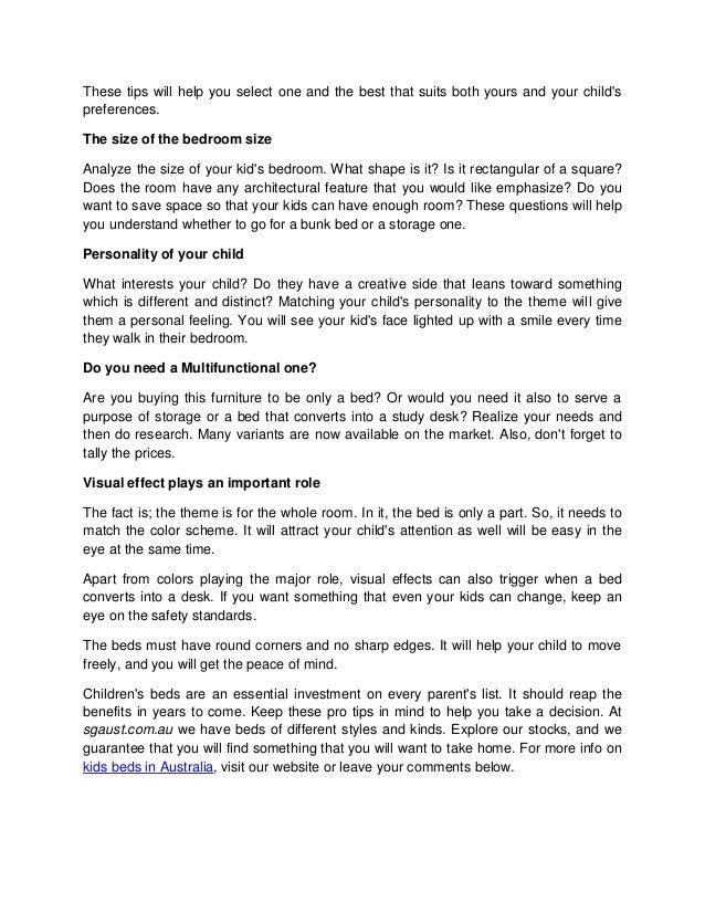 Pro Tips For Buying Kidu0027s Beds In Australia; 2.