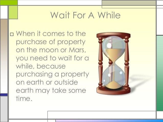 How To Buy Property On The Moon Or Mars