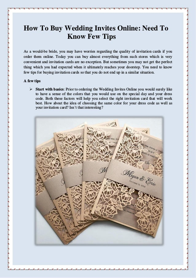 How To Buy Wedding Invites Online Need Know Few Tips