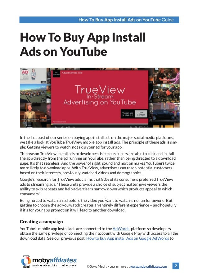 Buy Youtube Video Downloader Mp4: How To Buy App Install Ads On YouTube Guide