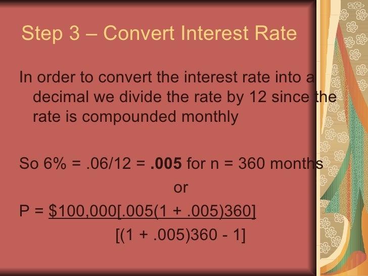 calculate a mortgage