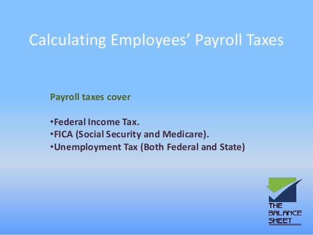 how to calculate and report your employee payroll tax