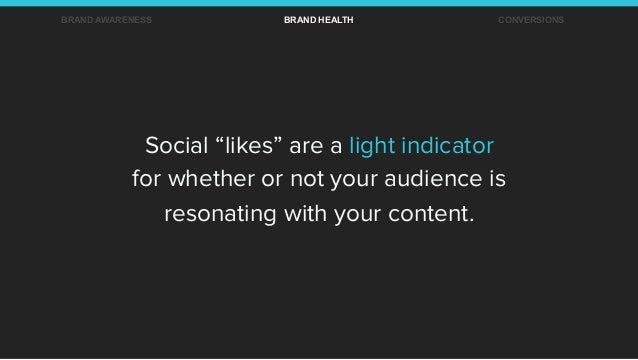 """Social """"likes"""" are a light indicator for whether or not your audience is resonating with your content. BRAND AWARENESS BRA..."""