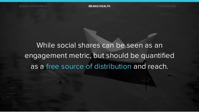 While social shares can be seen as an engagement metric, but should be quantified as a free source of distribution and reac...