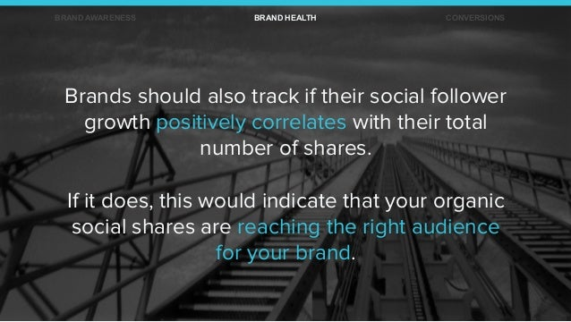 Brands should also track if their social follower growth positively correlates with their total number of shares. If it do...