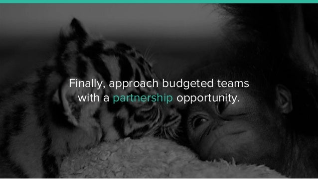 Finally, approach budgeted teams with a partnership opportunity.