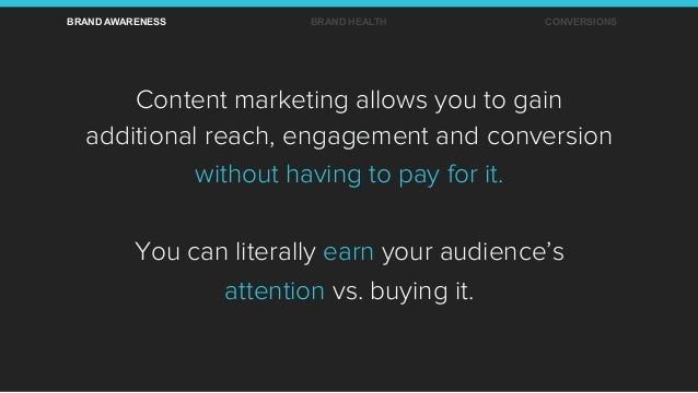 Content marketing allows you to gain additional reach, engagement and conversion without having to pay for it. You can lit...