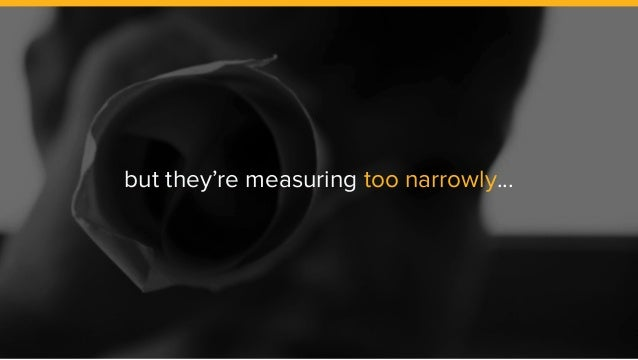 but they're measuring too narrowly...