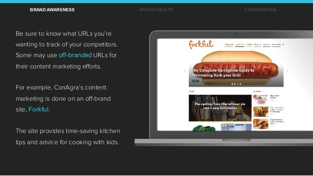 Be sure to know what URLs you're wanting to track of your competitors. Some may use off-branded URLs for their content mar...