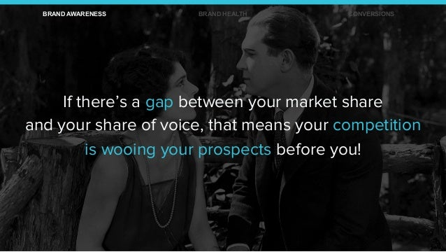If there's a gap between your market share and your share of voice, that means your competition is wooing your prospects b...