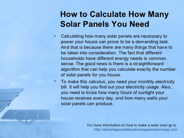 How to calculate how many solar panels you need