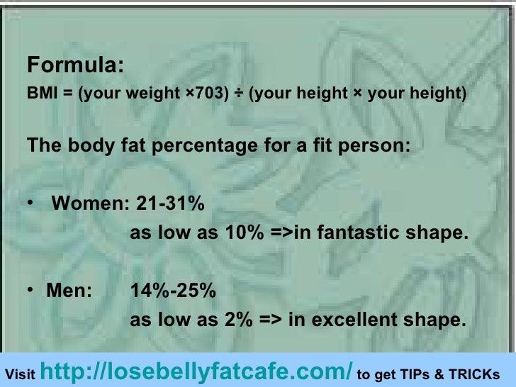 Formula For Body Fat Percentage
