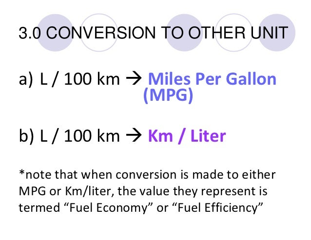 How to calculate your Fuel Consumption (FC)
