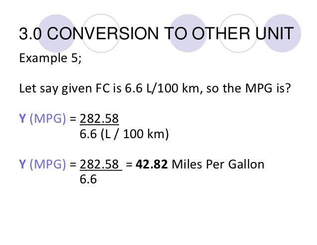 Miles per gallon converter liters 100km