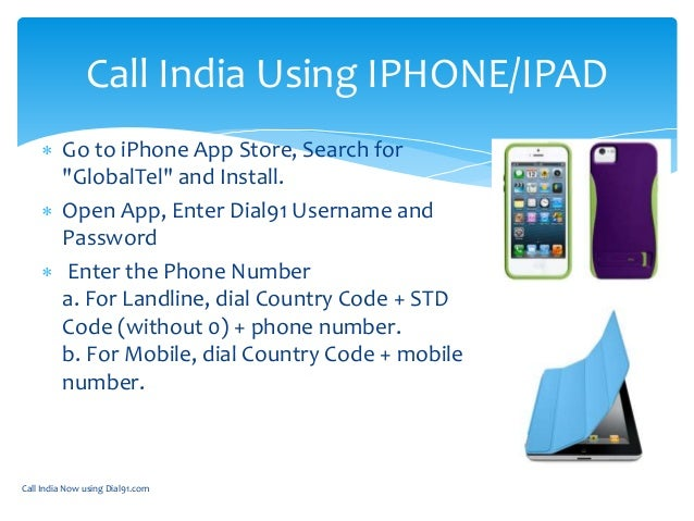 How to call india using dial91 apps