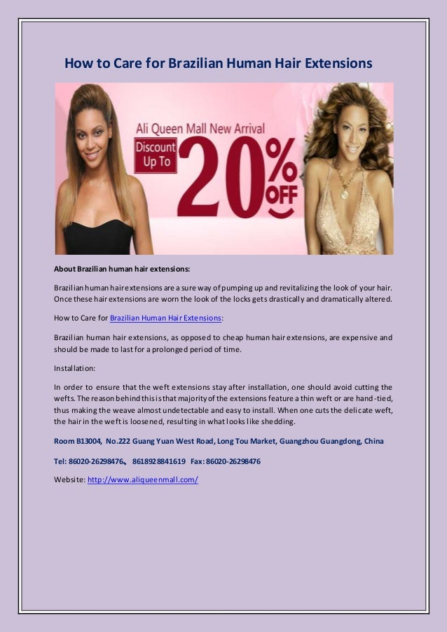 How To Care For Brazilian Human Hair Extensions