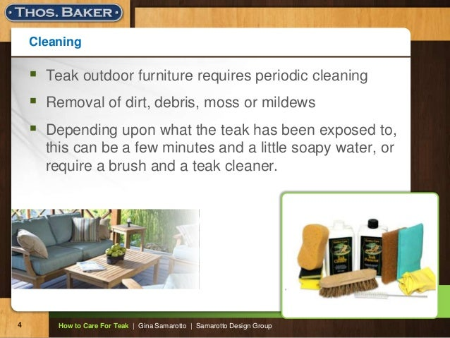 Cleaning  Teak Outdoor Furniture ... Part 46