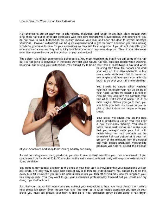 How To Care For Your Human Hair Extensions