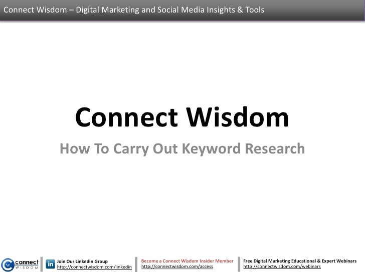 Connect Wisdom – Digital Marketing and Social Media Insights & Tools                    Connect Wisdom              How To...