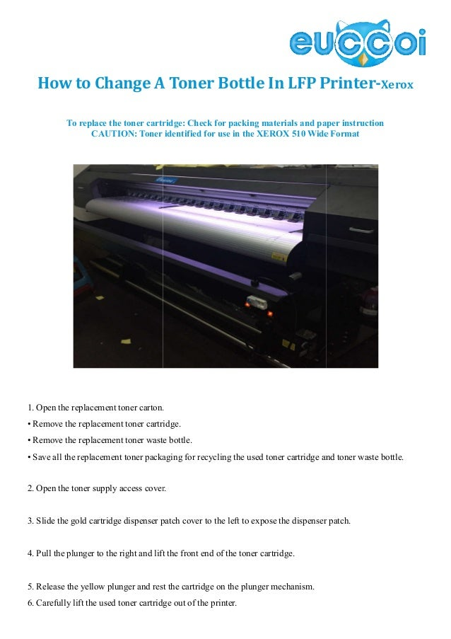 How to change a toner in lfp printer