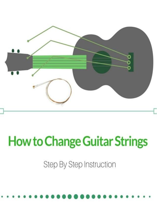 how to change guitar strings step by step instruction. Black Bedroom Furniture Sets. Home Design Ideas