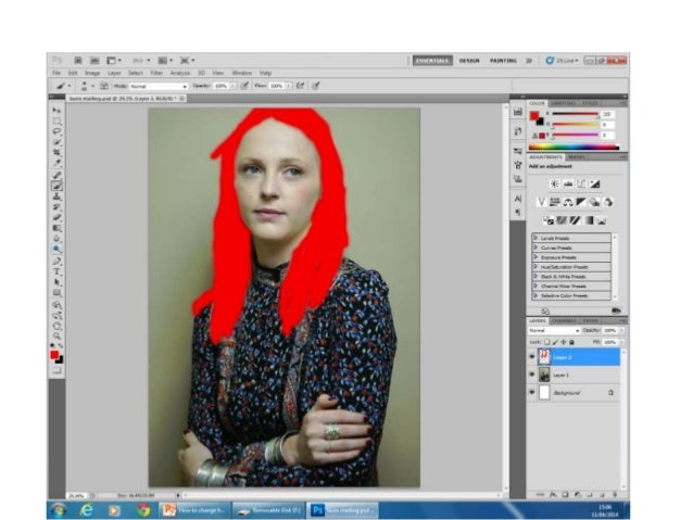 photoshop how to select color and change