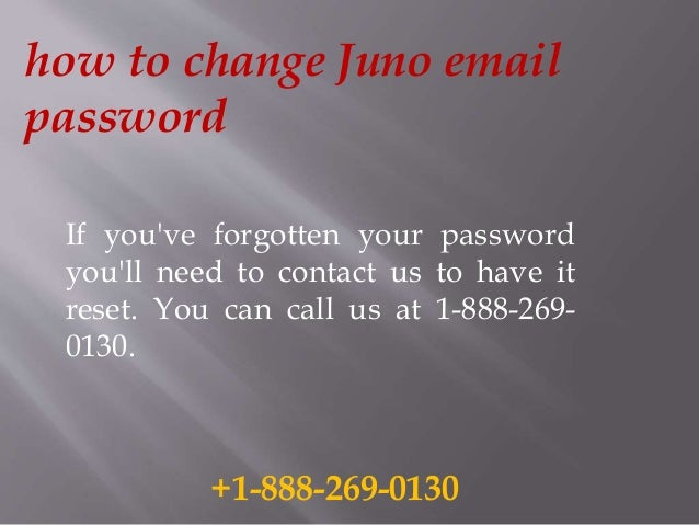 How to change juno email password