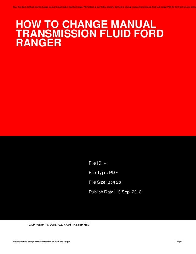 ford manual transmission fluid