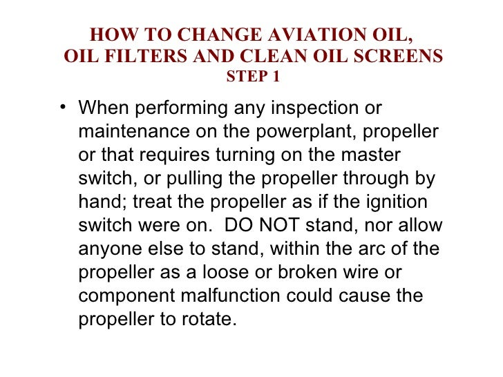 How to change oil
