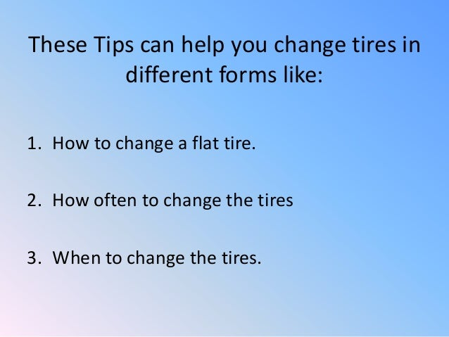 instructions on how to change a tire