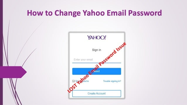 How to Change Yahoo Email Password