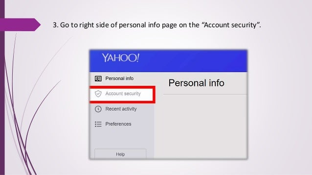 yahoo mail account security page