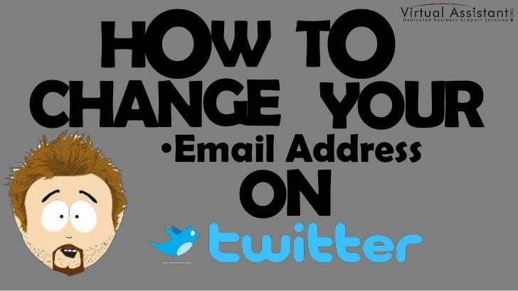 how to change your twitter email address