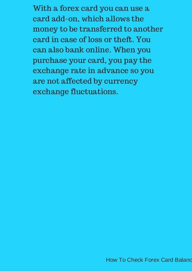 Forex debit card hdfc
