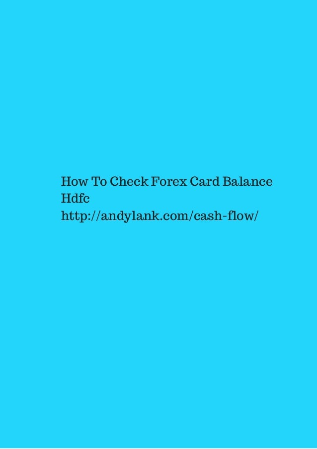 Hdfc forex plus corporate card balance check