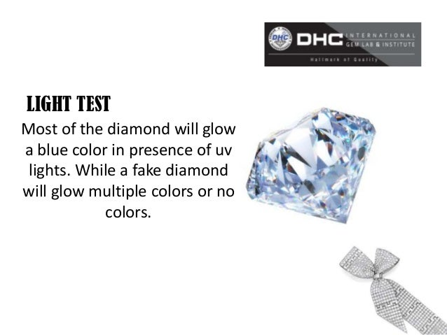 how to test to see if a diamond is real
