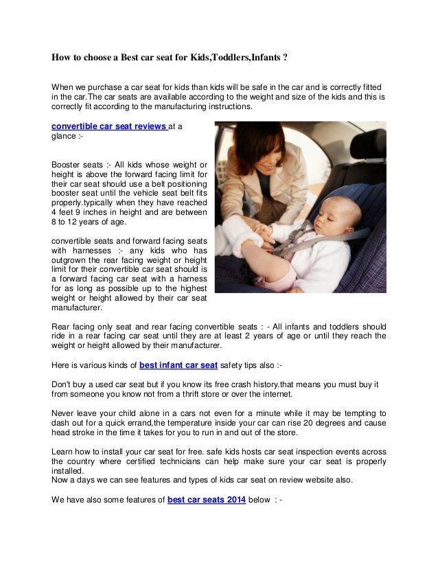 how to choose a best car seat for kidstoddlersinfants when we two