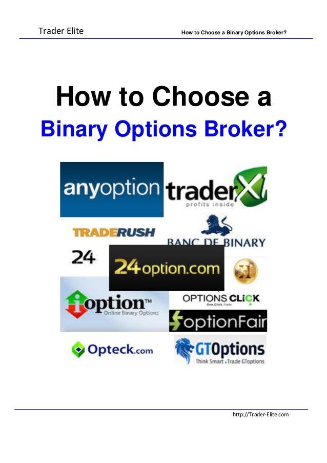 What are binary options brokers