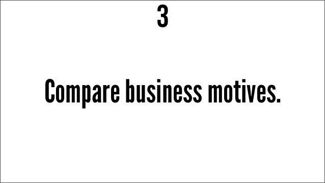 Compare business motives. 3