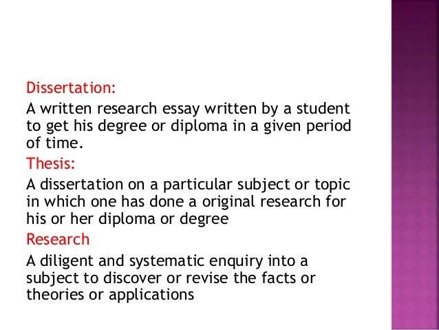 Definition oral dissertation