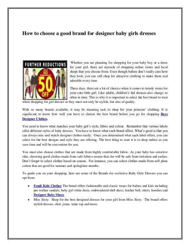 6b73d04c1d7e How to choose a good brand for designer baby girls dresses ...