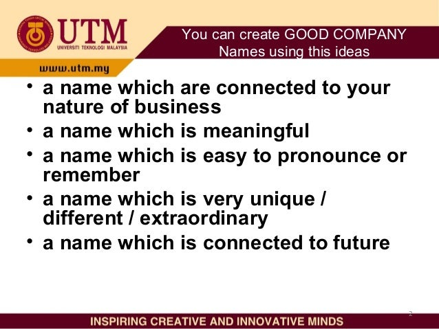 how to choose new company name