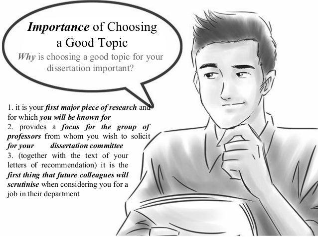 Choosing A Dissertation Topic