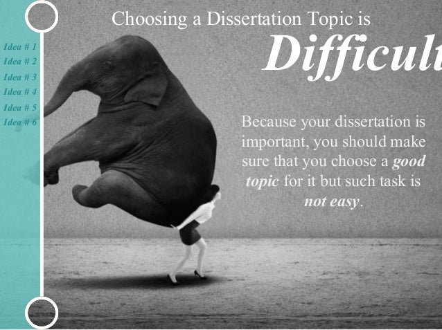 what is a dissertation topic Topic selection guide: a list of top 100 education thesis topics your education thesis topic may not be original, but it should be manageable and rich in available literature.