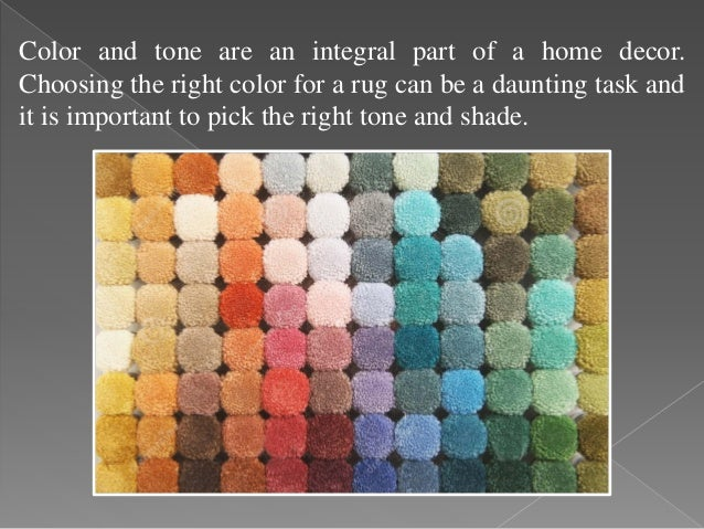 How To Choose An Area Rug Color; 2.