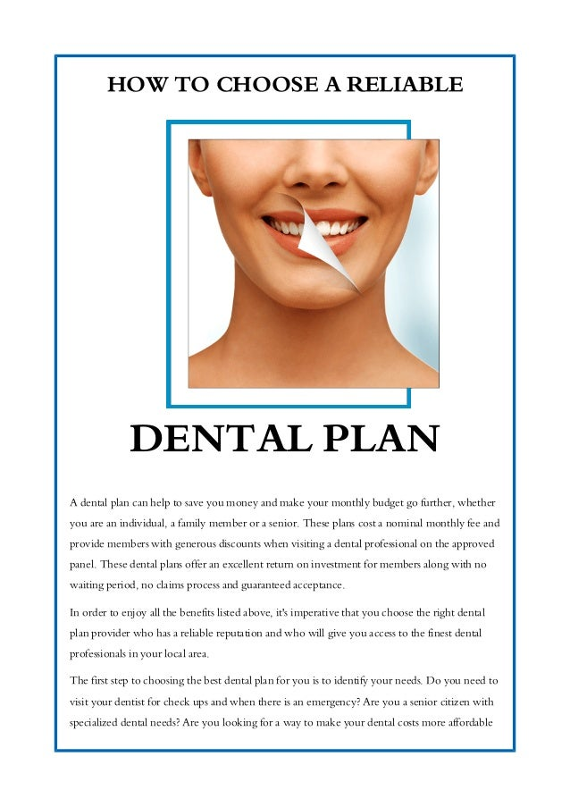 How To Choose A Reliable Dental Plan