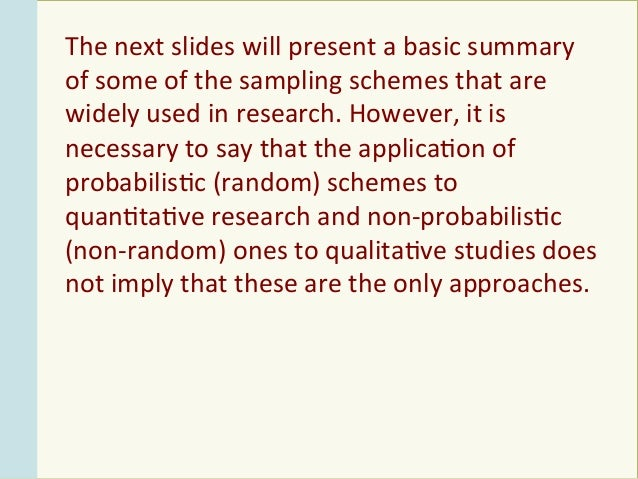 dissertation random sampling Many dissertation supervisors advice the choice of random sampling methods due to the representativeness of sample group and less room for researcher bias compared to.