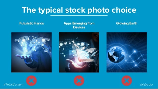 FuturisticHands The typical stock photo choice AppsEmergingfrom Devices GlowingEarth #ThinkContent @lizbedor